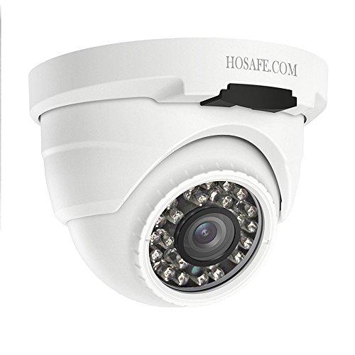 HOSAFE PoE Camera Outdoor 1080P con Audio, visión Nocturna de 50 pies, Alerta de detección de Movimiento, Compatible con ONVIF NVR o Software (Blur Iris, iSpy, Synology, etc.)