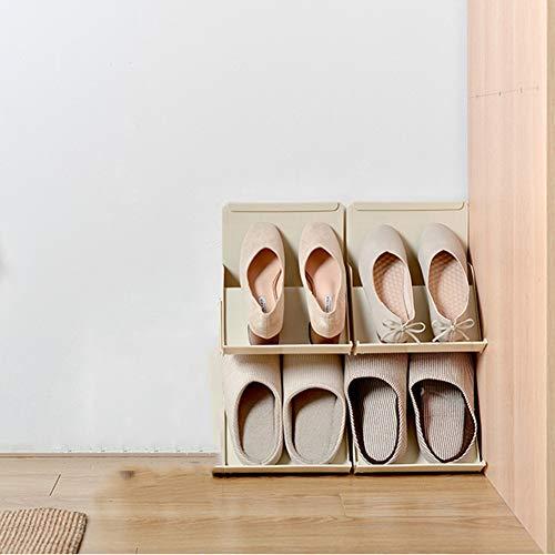 Yidata Estante apilable para zapatos, organizador de zapatos, separador plegable, separador de armario, divisor de zapatos de bricolaje