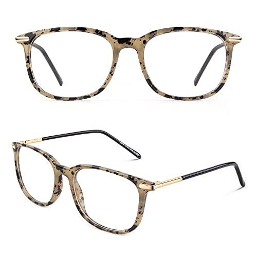 CGID CN79 Klassische Nerdbrille ellipse 40er 50er Jahre Pantobrille Vintage Look clear lens,Spot