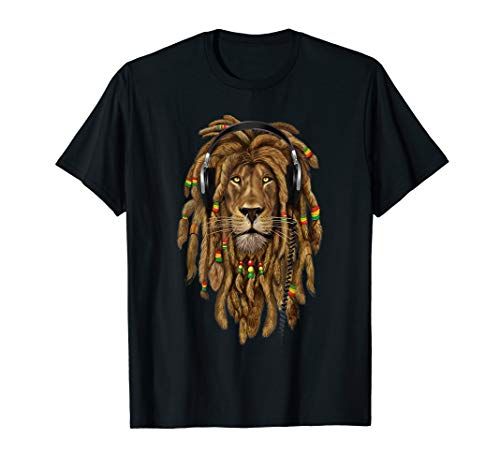 Rasta Lion Rastafari Löwe gift for Reggae Music Lover T-Shirt