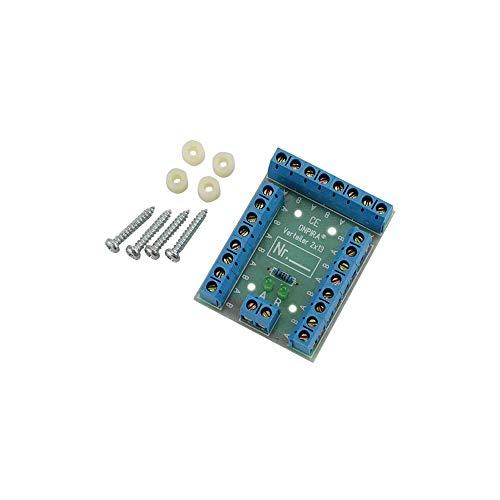 V2x13 Stromverteiler Verteiler Platine 8A belastbar Modellbau Gleich- und Wechselstrom