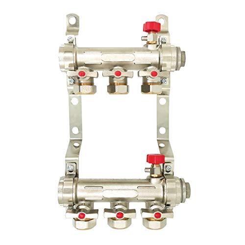 Colector calefaccion suelo radiante por agua 2 3 4 5 6 7 8