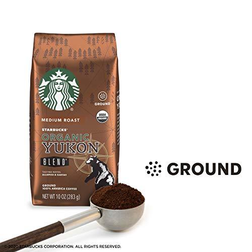 Starbucks Organic Yukon Blend Medium Roast Ground Coffee, 10-Ounce Bag
