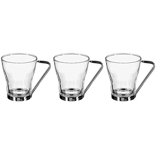 Secret de Gourmet - Lot de 3 Tasses en Verre 23cl Transparent