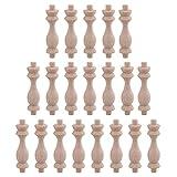 H-83 Buche Unfinished Holz Handwerk Spindeln Holz Spindel Baluster für Möbel Hause Reparatur Dekoration Pack von 20