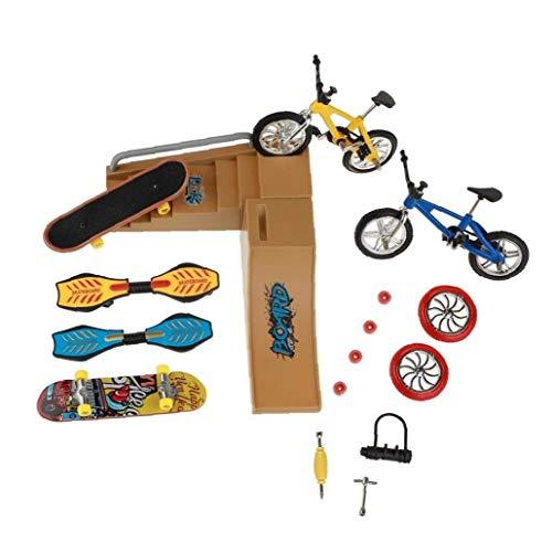 Patinetas Dedo Juguetes Set Parque del patín Kit Mini Scooter de Bicicletas monopatín Lugar Set para niños Manos de Formación 1 Pack