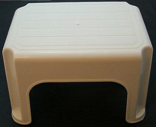 Whitefurze–Sgabello, Plastica, Crema, 40cm