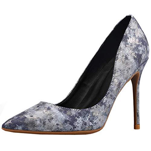 Zanpa Elegant Damen Floral Pumps Stiletto Heels Büro Dress Schuhe Spitze Cocktail Heels Evening Party Schuhe Sizeey Size 35