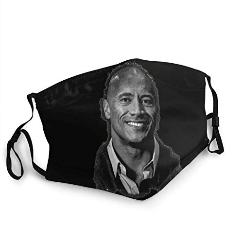 Dwayne The Rock Johnson Anti Dust Adjustable Windproof Thanksgiving Christmas Face Mask Face Shield Neck Gaiter With 2 Filters Made In USA-face mask-