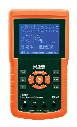 Extech 382100 1200A 3-Phase Power Analyzer/Datalogger