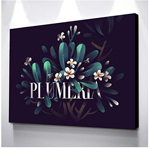 Zzdhewyz Posters and Prints Room Decor Wall Painting Lily Plant Canvas Art Picture Paintings for Living Room Wall Home Decoration 40X50 cm No Frame