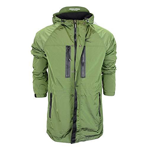 Weekend Offender Duran Nylon Zip Up Hooded Green Jacket S Green