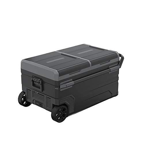 outingStarcase 75L Trolley Wheels Coche Refrigerador Congelador Deep DC12V24V Compresor portátil Camping Picnic al aire libre RV Mini Frigorífico Caja de enfriador (Color Name : Gray)