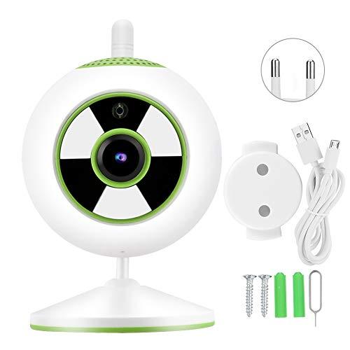 Jazar Cámara IP, cámara de Alta definición 1080P con Pantalla Clara 1080P, artículo para Oficina en casa(Green, European regulations)