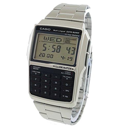Men's Casio DBC-32D-1A Silver Steel Databank Calculator Watch