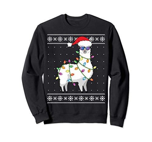 Alpaca Christmas Tree Shirt Funny Christmas Ugly Sweater Sweatshirt