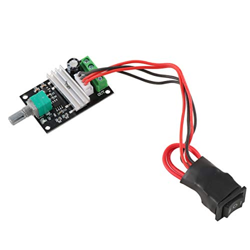 Angoily Controlador de Motor de 6V 12V 24V 3A 80W CC (PWM) Interruptor Reversible Ajustable Interruptor de Controlador Ajustable 1203BB