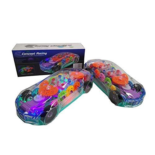 Kinderspielzeugauto Elektrisches Spielzeugauto, Für Kinder LED-Licht Musik Transparente Schale Mechanisches Getriebe Neues Konzept Sportwagen Elektrischer Rennwagen Elektroautos Für Kinder