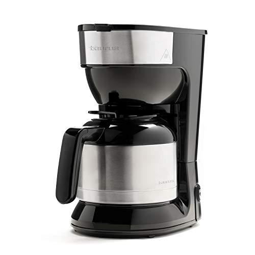 Taurus Montesco - Cafetera de goteo, 1l, hasta 10 tazas, jarra cristal, antigoteo automático, placa calefactora mantén café caliente, fácil uso, filtro permanente-lavable, rápida, 900W, negra, inox