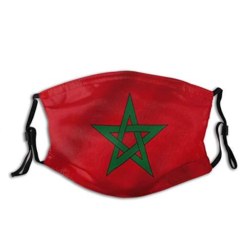 Gesichtsdekorationen,Unisex Staubdichter,Mundschutz,Für Die Persönliche Gesundheit,Gesichtsbedeckung,Marokko Flagge Marokkanische Nationalflaggen