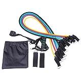 Conjunto de bandas de resistencia al ejercicio Equipo de gimnasio para el hogar para piernas, brazos y glúteos Conjunto de entrenamiento físico, conjunto de bandas de ejercicio para entrenamiento