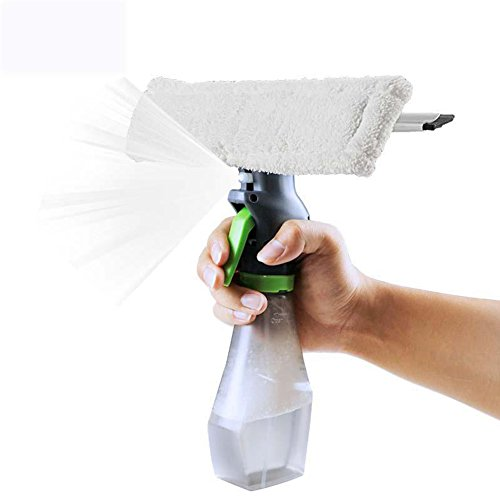 SADA72 3-in-1-Sprühglasbürste, multifunktionaler Magic Wischer Rakel, Mikrofaser, Fensterreiniger und Schaber, Handheld-Scheibenreiniger-Spray für Zuhause, Büro, Auto