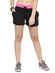 UZARUS Womens Cotton Sports Elastic Shorts