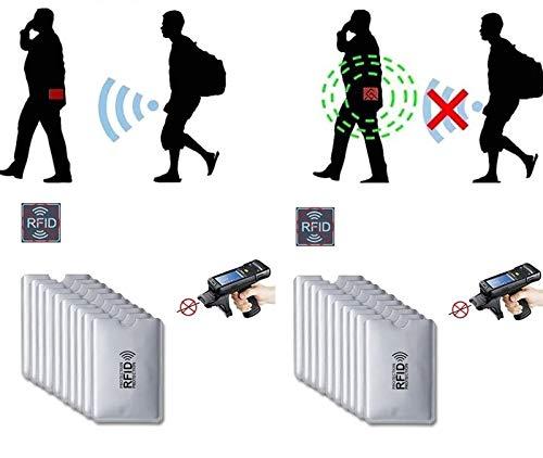 Kit C/ 6 Porta Cartão Bloqueador Sinal RFID NFC Anti Fraude Dourado