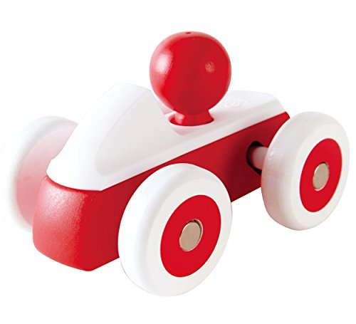 Hape- Rolling Roadster Toy (Red) Coche de Carreras, Color Rojo (Barrutoys E0064)