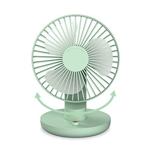 SmartDevil Ventilador de Mesa,Ventilador USB Portátil USB Ventilador de Escritorio,180°Rotación,3 Ajustable Velocidades& Ángulo de rotación de 40°Desk Fan,Adecuado para el hogar,la Oficina (Verde)