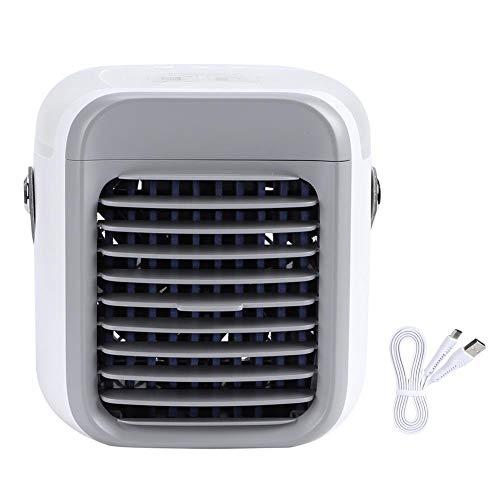 Handheld draagbare ventilator Mini USB-ventilator Kleine desktop-airconditioner Draagbare desktop-luchtkoeler Ventilator voor school Kantoorreizen Persoonlijk gebruik(Wit)