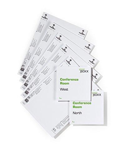 Durable 485202 Info Sign und Click Sign Einsteckschild für Türschilder (149 x 148,5 mm) Beutel à 10 Stück weiß
