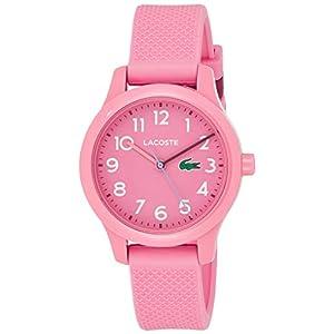 Lacoste Kids' TR90 Quartz Watch with Rubber Strap, Pink, 14 (Model: 2030006)