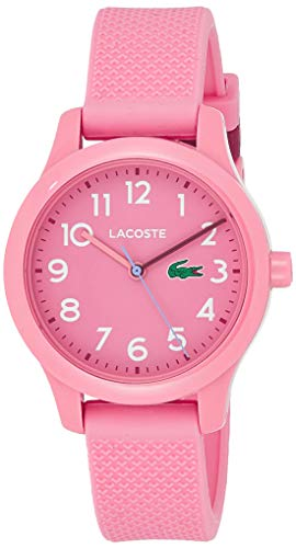 Lacoste Kids' TR90 Quartz Watch with Rubber Strap, Pink, 14 (Model: 2030006)