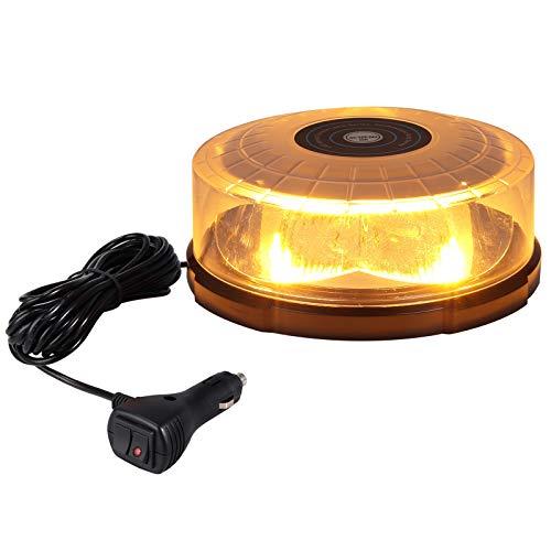 60W LED Rotativo Luz Emergencia Advertencia Estrocopocbica Help Flash Coche Baliza de Señalación 27 Modos para Automoviles de 12-24V