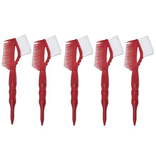 Lurrose 5 stks Haarverf Borstel Haarkleuring Kit Salon Haarkleuring Kleurstof Kit Borstel