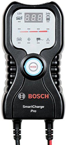 Bosch Smart Charge-PRO (Black) Battery Charger/Maintainer: 12/24V; 7A; for passenger vehicles, classic cars, motorcycles, boats, ATVs, snowmobiles and delivery vehicles
