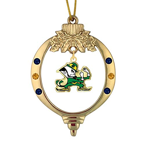 Final Touch Gifts University of Notre Dame Leprechaun Christmas Ornament
