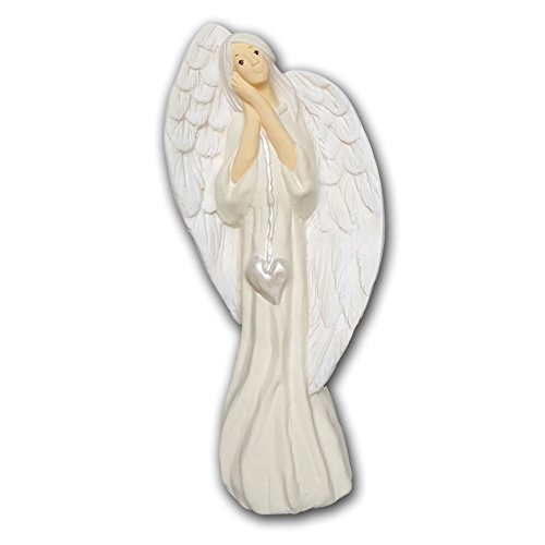 WERBUNGkreativ Engel Engelsfigur große Figur XL 34cm Engelchen Schutzengel Fee- Dekoration Weihnachten- Geschenk Hochzeit, Taufe, schützende Aufmerksamkeit, Zeichen der Liebe
