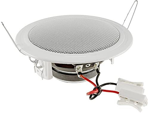 Einbaulautsprecher 135mm für Decke & Wand 60 Watt Metallschutzgitter Halteklammern 8 Ohm einfache Feder-Montage Weiß