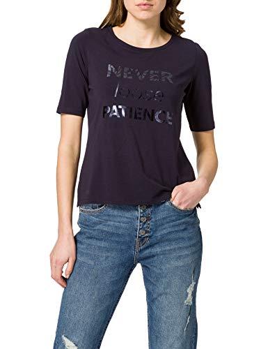 s.Oliver BLACK LABEL 150.10.102.12.130.2059406 T-Shirt, Navy Patience Print, 48 Donna