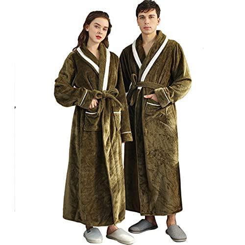 Trailrest Albornoz Microfibra Albornoz Mujer Hombre Bata de Pareja Waffle Albornoz Toalla Albornoz de algodón Kimono Batas para Mujeres y Hombres Pijamas Camisón de Dormir