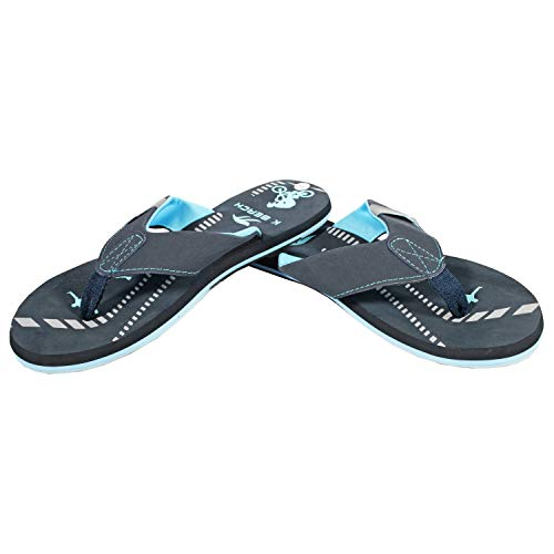 Ultrapower Flip-On Damen Zehentrenner | Flip Flops | Badelatschen | Strandschuhe | Duschlatschen | Zehenstegpantolette | Bad | Sauna Schuhe | Sandalen | ZT2 | D.Blau | Gr.39