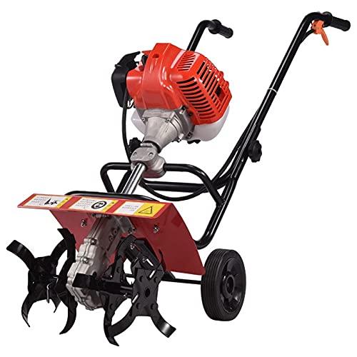 QILIN Benzin-GartenfräSe, 2-Takt/4-Takt-Benzin-Bodenbearbeitungsmaschine, Kleine Haushalts-Mikrofräse, Bodenbearbeitungsbreite 36 cm, Weicher Boden
