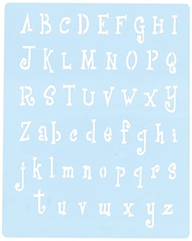 Faux Like a Pro Alphabet Stencil, 5.5 by 7-Inch, Single Overlay