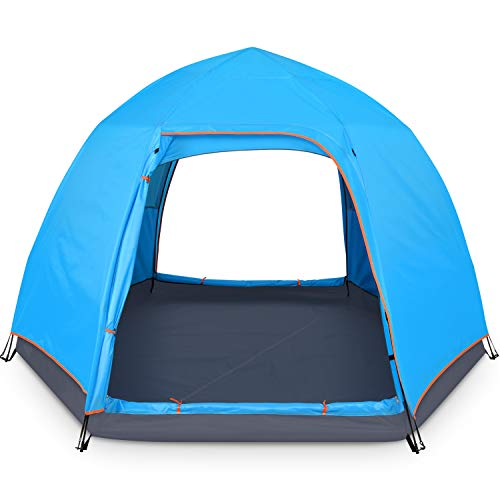 BATTOP 4 Person Tent for Camping Double Layer Family Camping Tent for 4 Seasons Waterproof with...