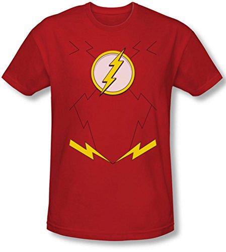 Liga de la justicia, la–para hombre New Flash Disfraz camiseta en color...