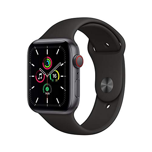 Apple Watch Se Cellular + Gps, 44 mm, Alumínio Cinza Espacial, Pulseira Esportiva Preto - Myf02be/a