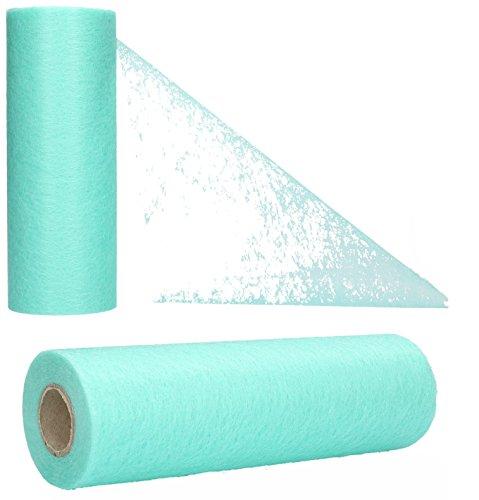 AmaCasa - Camino de mesa no tejido, cinta de mesa, no tejida, para boda, comunión, 23 cm/25 m