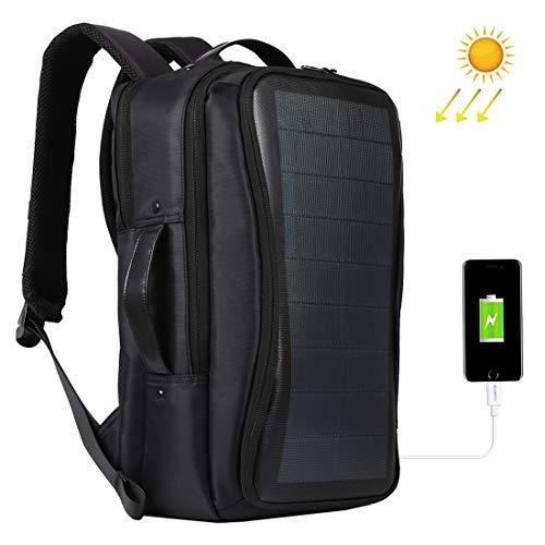 Zaino Per Computer Portatile, Grande, Ultraleggero, Con Pannello Solare Multifunzione, Alimentazione USB Porta Di Ricarica Traspirante, Per Campeggio,passeggiate, Ciclismo, Scuola